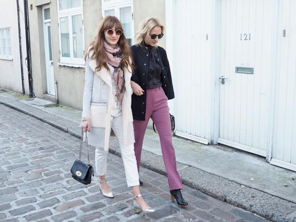 london fashion week street style pink