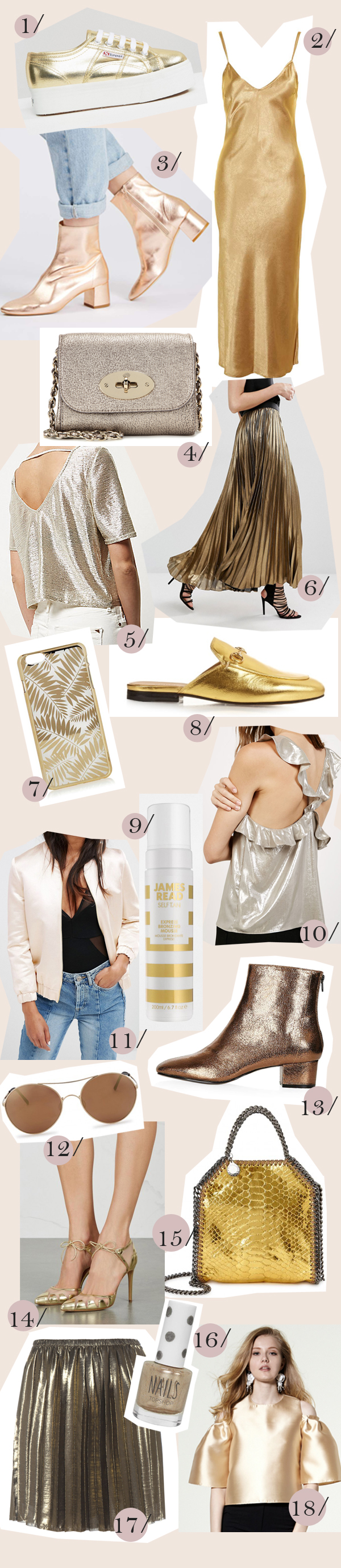 belle and bunty london style blog fashion street style gold fashion trend shopping guide