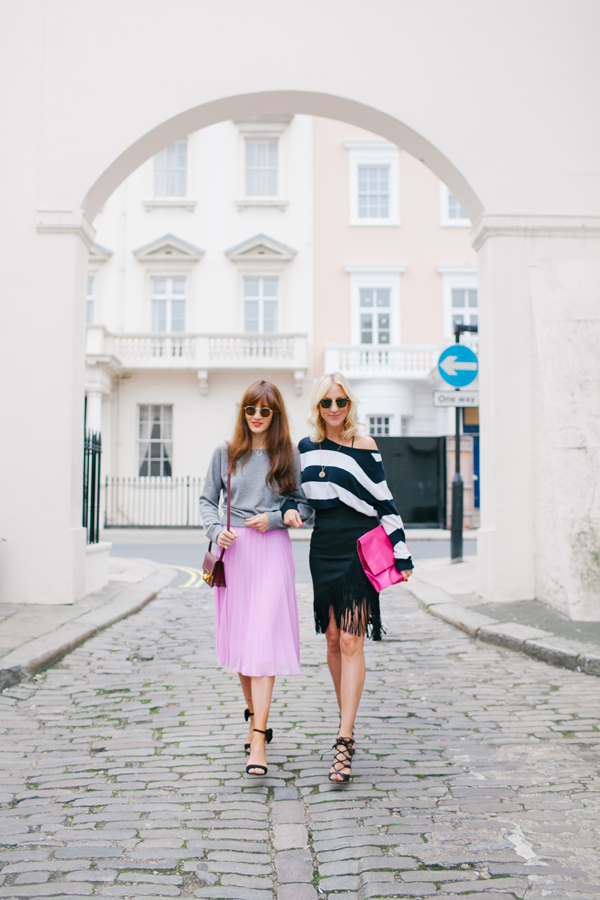 belle & bunty streetstyle shoot london fashion blog pink belgravia