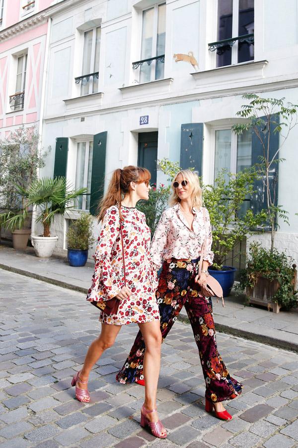 belle & bunty paris street style rue cremieux flower power shoot pastels harvey nichols