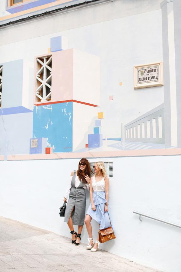 Belle & Bunty London for BLUE STRIPES Spain SS17 ASOS MIDI SKIRT BOHO CHLOE GIRLS