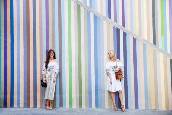 belle & bunty london fashion bloggers designers spain travel diary stripe wall alicante