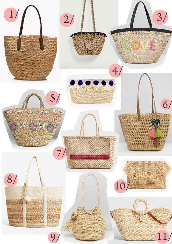Belle & Bunty basket bags wicker straw birkin bags shopping summer trend