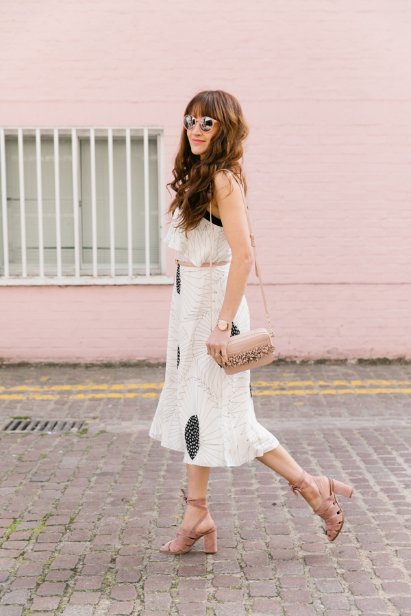 Belle & Bunty London for L.K.BENNETT The Season SS17 fashion bloggers pink mews street style retro travel blog