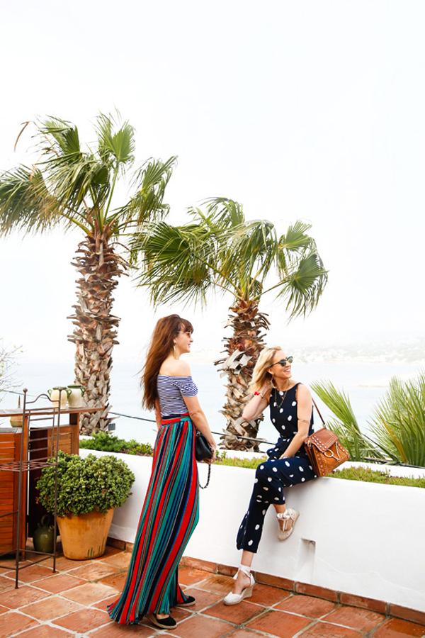 Belle & Bunty London for boden lkbennett spots and stripes Spain SS17
