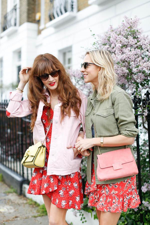 Belle & Bunty for London streetstyle tea dress shacket SS17