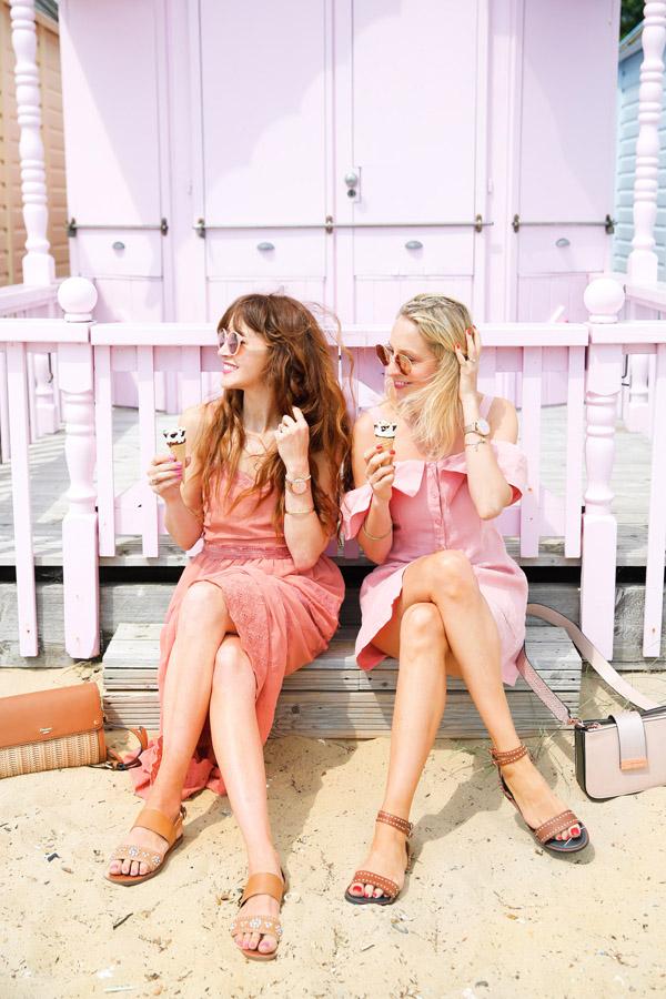 Belle & Bunty for Dune London Summer Mersea Island Beach hut pastel blog shoot SS17