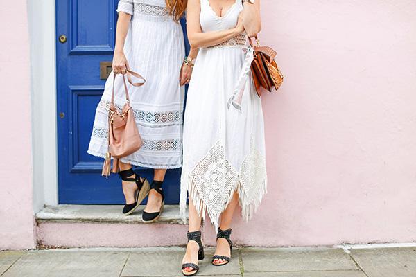 Belle & Bunty London Bloggers white dresses Summer blog streetstyle