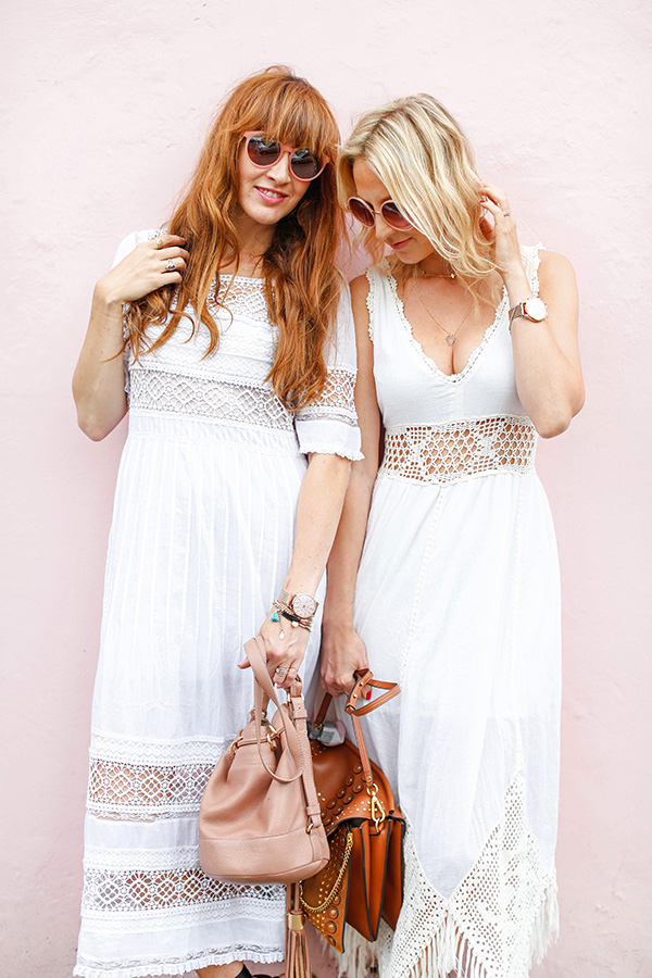 Belle & Bunty London Bloggers white dresses Summer blog streetstyle
