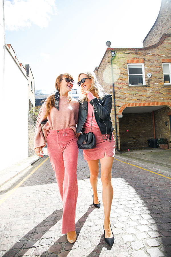 Belle & Bunty London AW17 trends streetstyle bloggers fashion style blog pink outfits