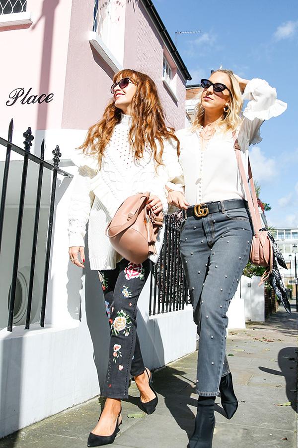 Belle & Bunty London Harvey Nichols AW17 denim trends streetstyle bloggers fashion style blog