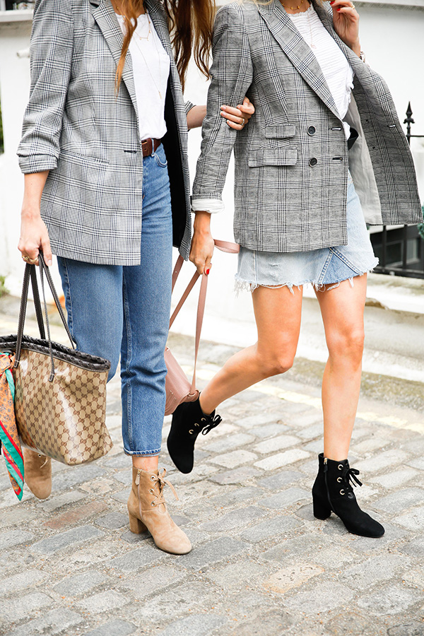 Belle & Bunty London street style prince of wales check blazer aw17 trends