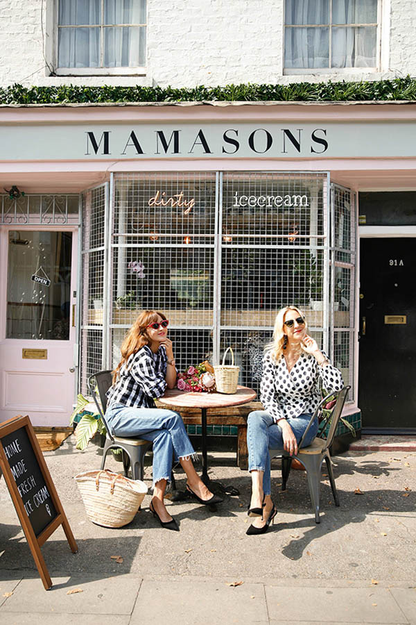instagrammable coffee shops london MAMSONS black ice cream pink latte