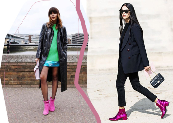 inspo pink boots
