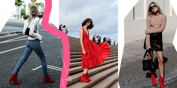 inspo red boots