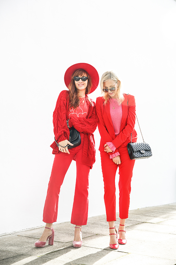 Belle and Bunty Blog aw17 trends all red head to toe fashion bloggers Islington London