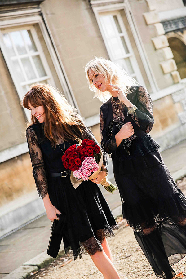 Belle & Bunny London Fashion Bloggers Chiswick House shoot blog Christmas lace LBD Monsoon