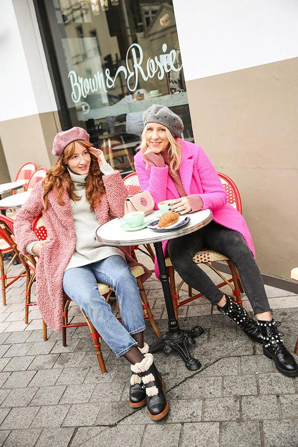 Belle & Bunty London Bloggers top fashion blog South Kensington pink coats winter inspiration