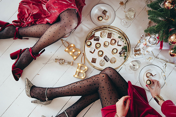 Belle & Bunty Marks and Spencer Christmas treats party London style bloggers