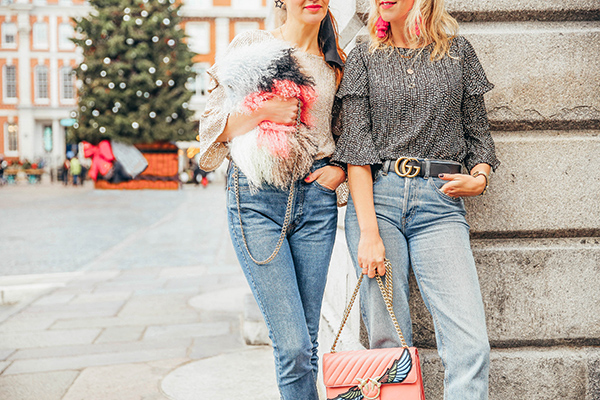 belle & bunny London blogger fashion Christmas outfit ideas Covent Garden river island