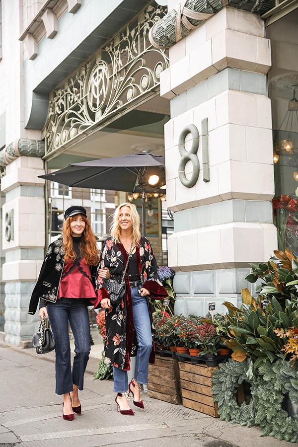 Belle & Bunny Bibendem Christmas holiday outfit inspiration velvet denim