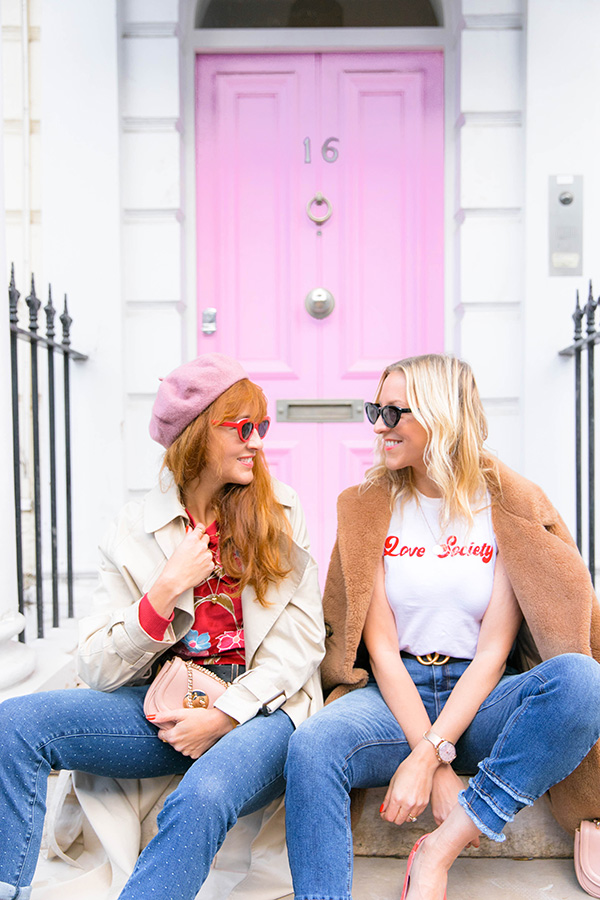 Belle & Bunty for Wallis Denim ss18 pink house notting hill London