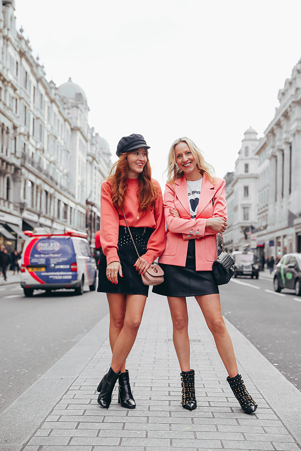 Belle & Bunty and other stories pink suit picadilly circus london bloggers style blog