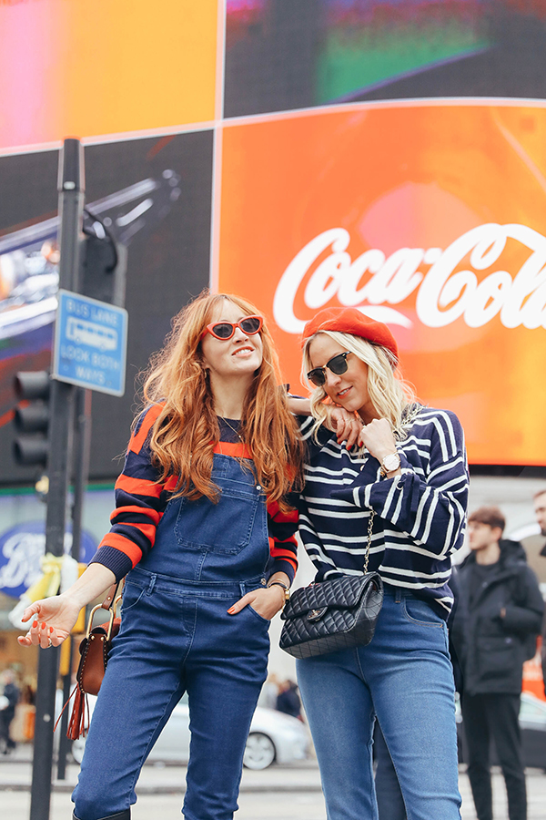 belle and bunty for matalan denim spring ss18 London Piccadilly Circus fashion bloggers blog