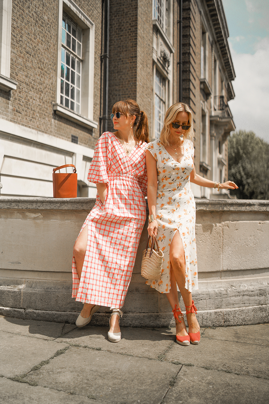 9cc8389031 belle and bunty for farfetch positively concious reformation dress mara  hoffman london bloggers influencers