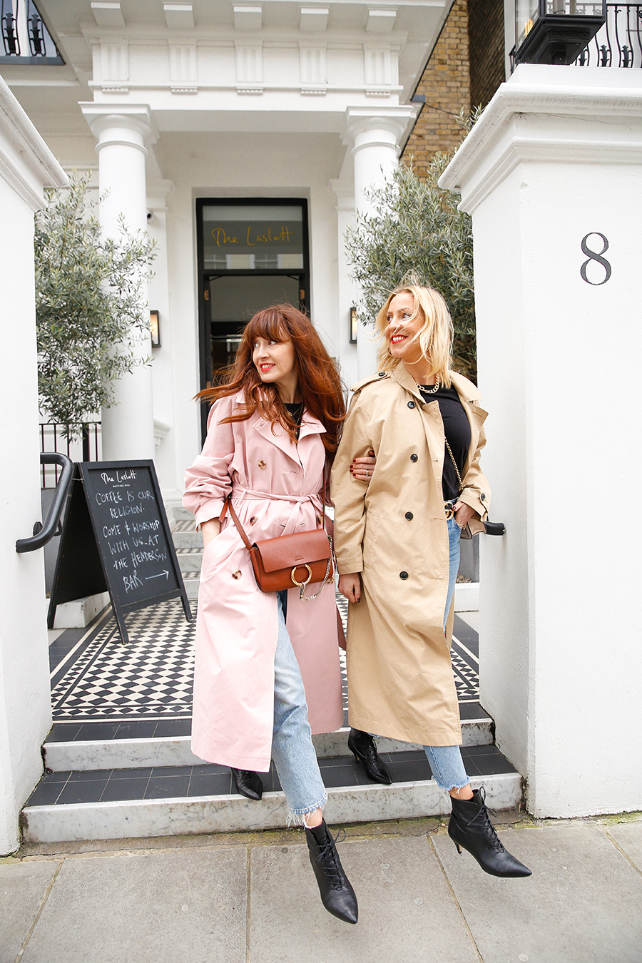 Belle and bunty London fashion bloggers influencers stylists trench coat shopping edit