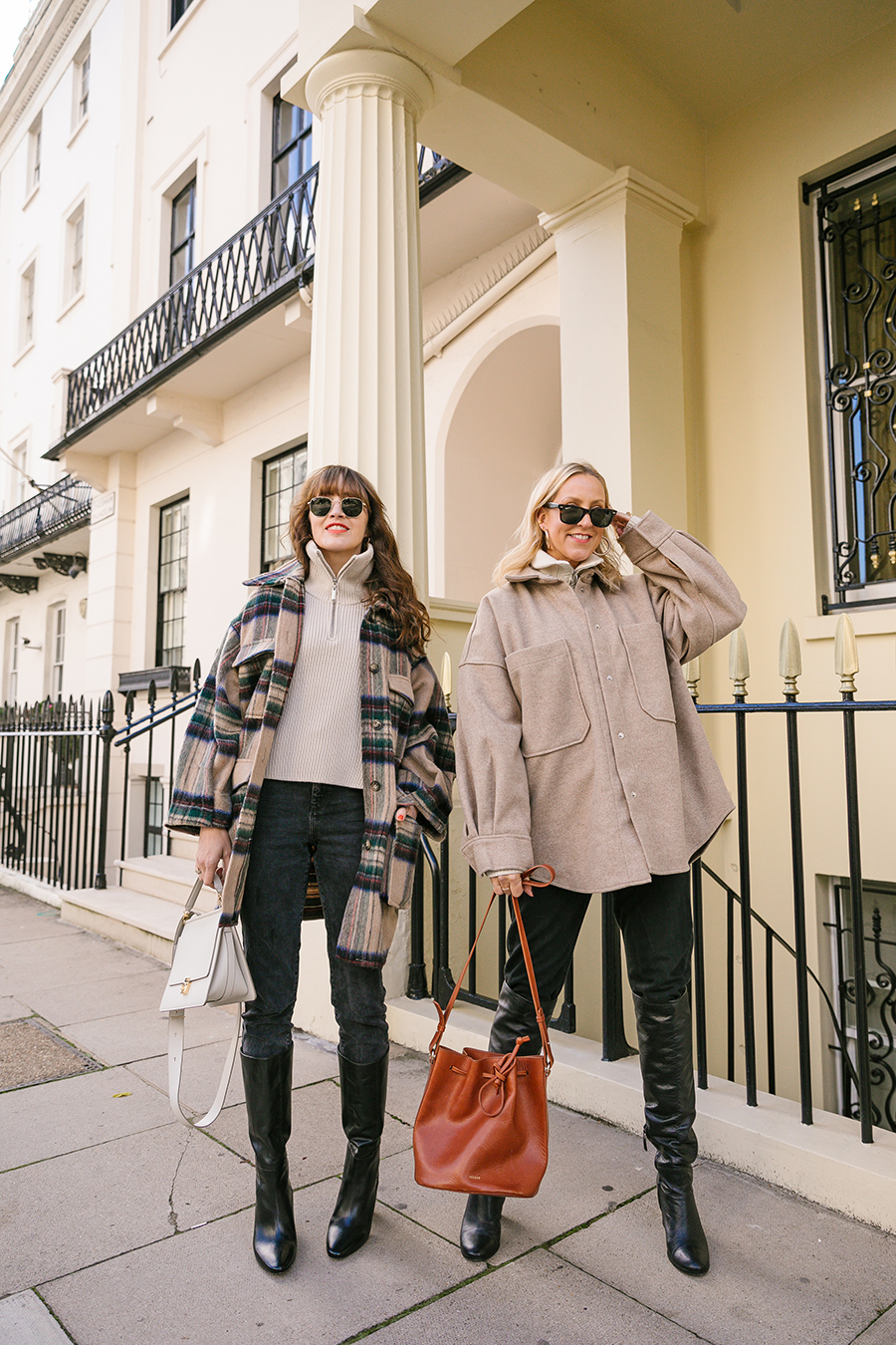 Belle & bunty london bloggers influencers Shackets coat edit